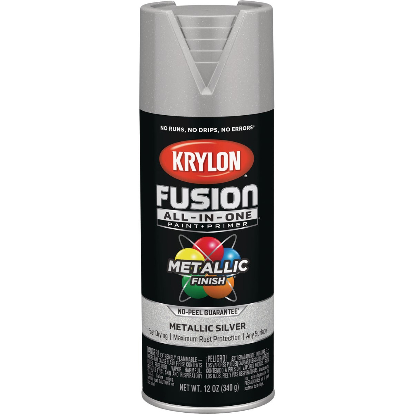 Krylon Fusion All-In-One Metallic Spray Paint & Primer, Silver Image 1