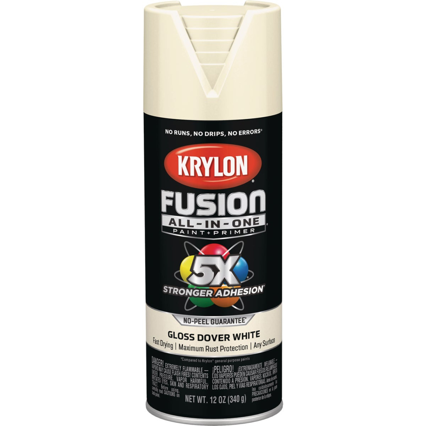 Krylon Fusion All-In-One Gloss Spray Paint & Primer, Dover White Image 1