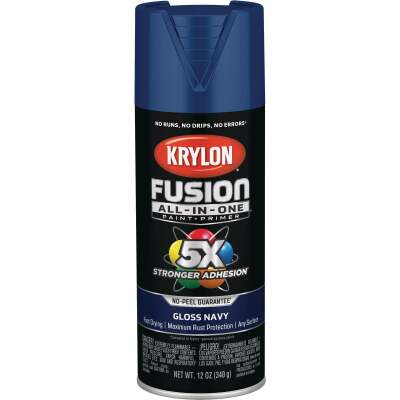 Krylon Fusion All-In-One Gloss Spray Paint & Primer, Navy