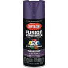 Krylon Fusion All-In-One Gloss Spray Paint & Primer, Purple Image 1