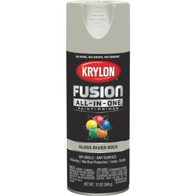 Krylon Fusion All-In-One Gloss Spray Paint & Primer, River Rock