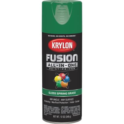 Krylon Fusion All-In-One Gloss Spray Paint & Primer, Spring Grass