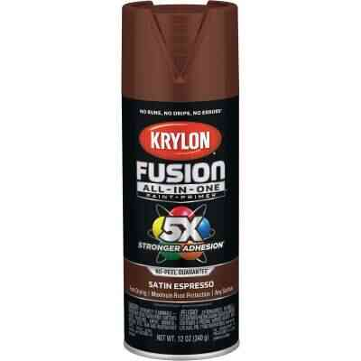 Krylon Fusion All-In-One Satin Spray Paint & Primer, Espresso