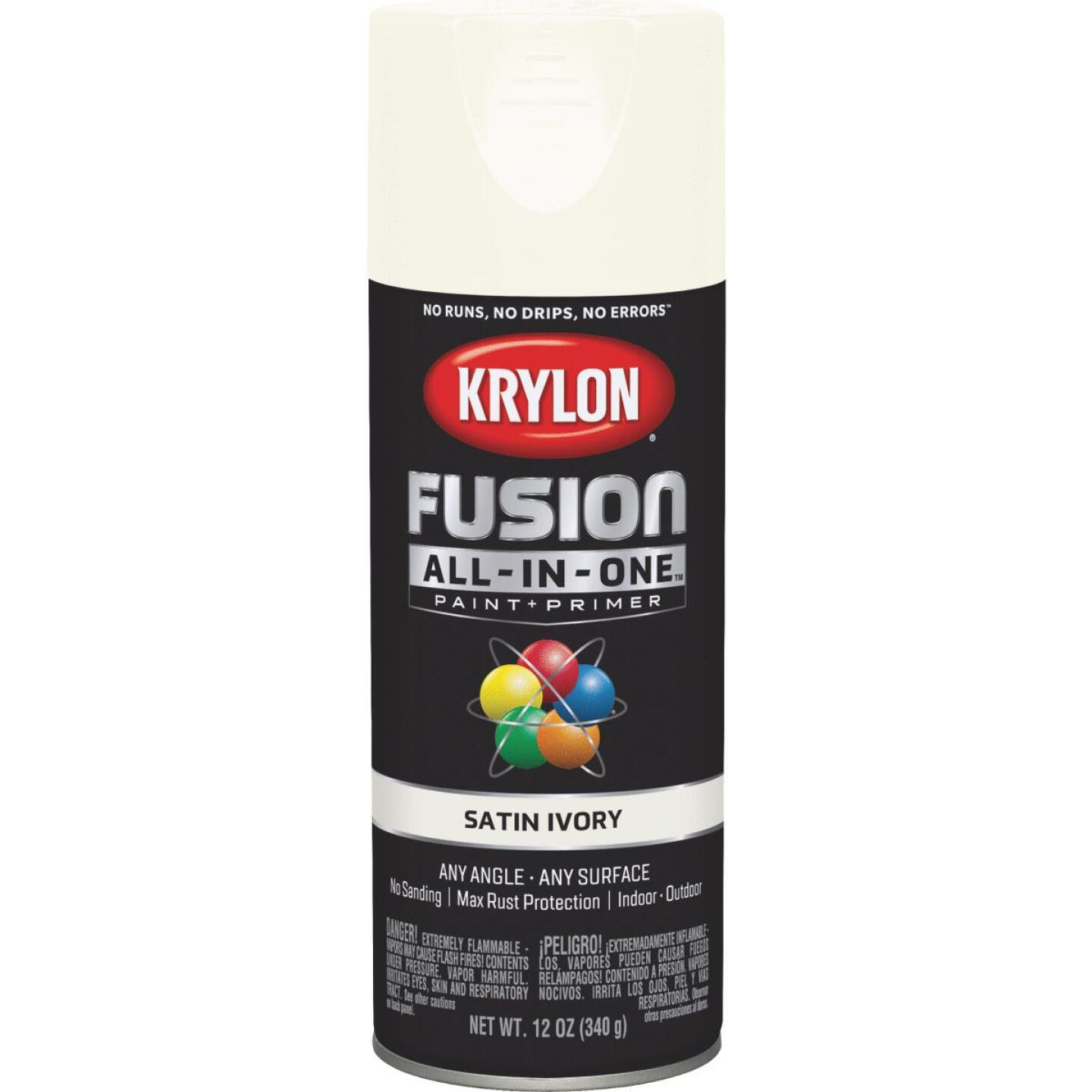 Krylon Fusion All-In-One Satin Spray Paint & Primer, Ivory Image 1