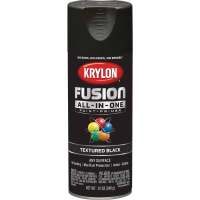 Krylon Fusion All-In-One Textured Spray Paint & Primer, Black
