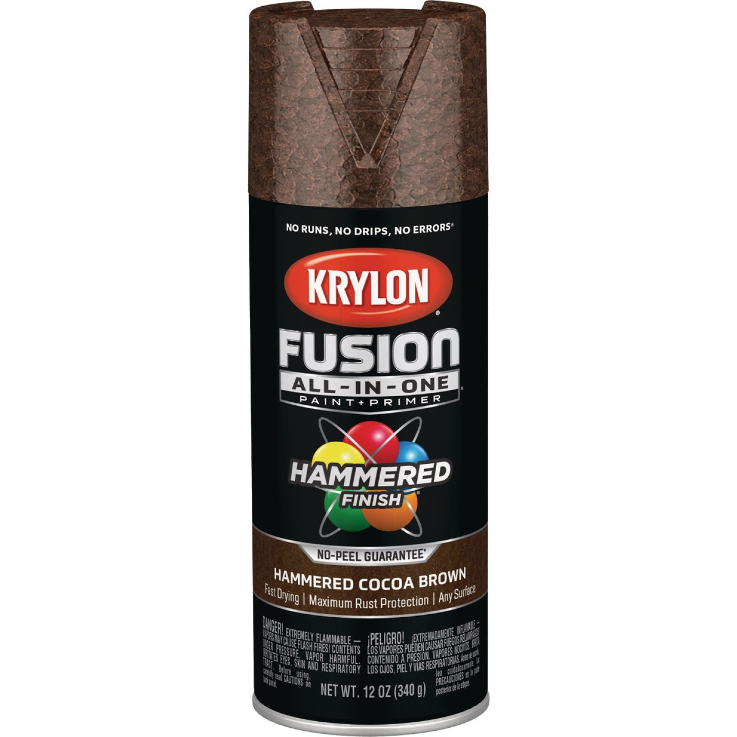 Krylon Fusion All-In-One Hammered Spray Paint & Primer, Cocoa Brown Image 1