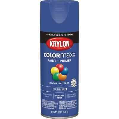 Krylon Colormaxx Satin Spray Paint & Primer, Iris