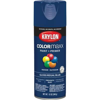 Krylon ColorMaxx 12 Oz. Gloss Spray Paint, Regal Blue
