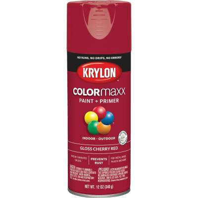 Krylon ColorMaxx 12 Oz. Gloss Spray Paint, Cherry Red