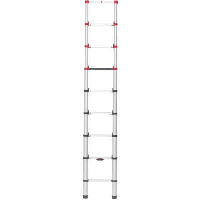 Hailo 11 Ft. Aluminum 9-Rung Telescoping Ladder with 330 Lb. Load Capacity