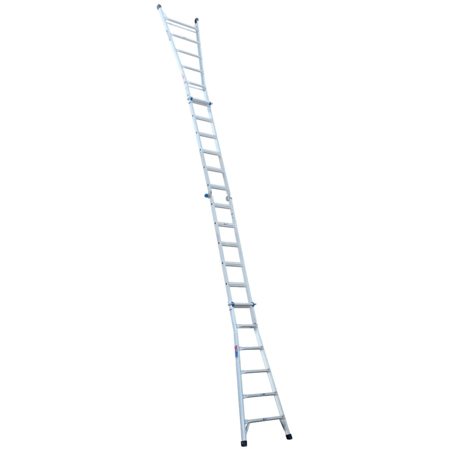 Werner 26 Ft. Aluminum Multi-Position Telescoping Ladder with 300 Lb. Load Capacity Type IA Ladder Rating Image 7
