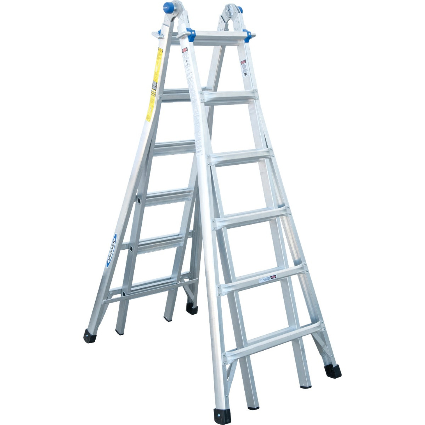 Werner 26 Ft. Aluminum Multi-Position Telescoping Ladder with 300 Lb. Load Capacity Type IA Ladder Rating Image 11