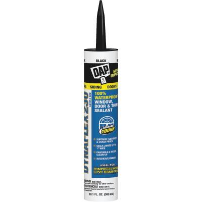 DAP DYNAFLEX 230 10.1 Oz. 100% Waterproof Window, Door, Siding & Trim Elastomeric Sealant, Black
