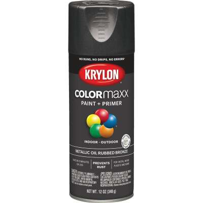 Krylon ColorMaxx 11 Oz. Brushed Metallic Satin Spray Paint, Oil Rubbed Bronze