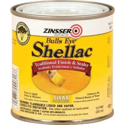 Zinsser Bulls Eye Clear Shellac, 1/2 Pt.