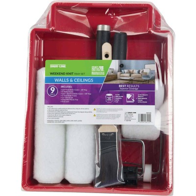 Shur-Line Shur-Flow 9 In. 3/8 In. Knit Roller & Tray Set (9-Piece)