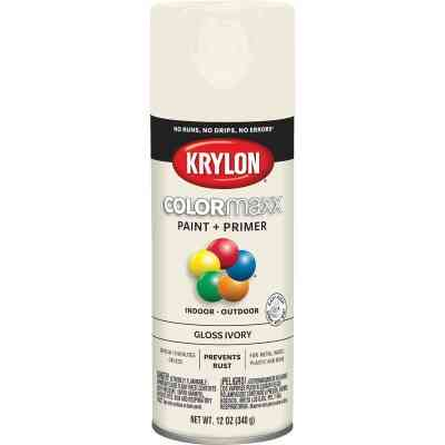 Krylon ColorMaxx 12 Oz. Gloss Spray Paint, Ivory