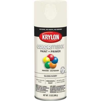 Krylon ColorMaxx 12 Oz. Gloss Spray Paint, Ivory