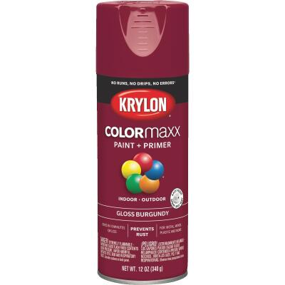 Krylon ColorMaxx12 Oz. Gloss Spray Paint, Burgundy