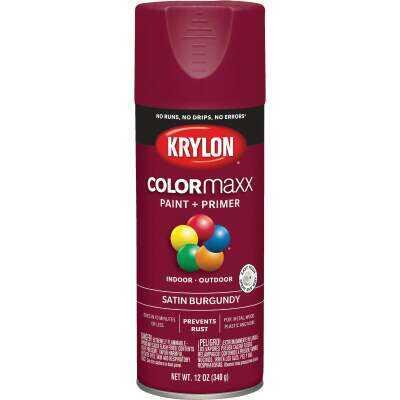 Krylon ColorMaxx 12 Oz. Satin Spray Paint, Burgundy