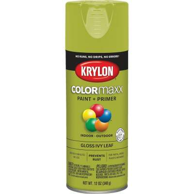 Krylon ColorMaxx12 Oz. Gloss Spray Paint, Ivy Leaf