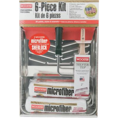 Wooster 6-Piece Microfiber Roller & Tray Kit