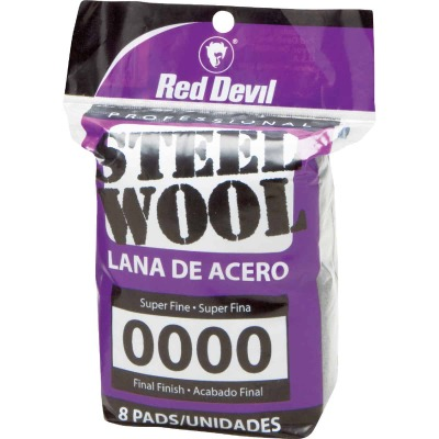 Red Devil #0000 Steel Wool (8 Pack)