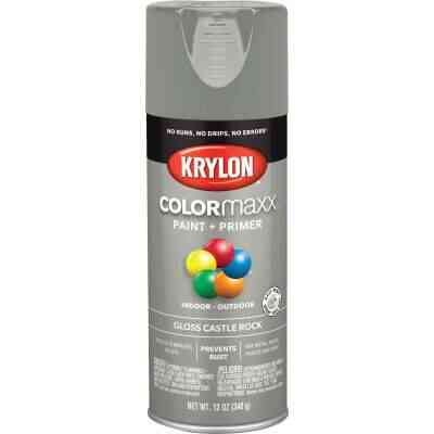 Krylon ColorMaxx 12 Oz. Gloss Spray Paint, Castle Rock