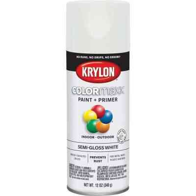 Krylon ColorMaxx 12 Oz. Semi-Gloss Spray Paint, White