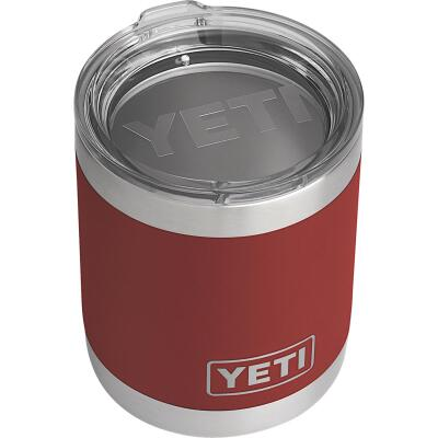 Yeti Rambler Lowball 10 Oz. Brick Red Stainless Steel Insulated Tumbler