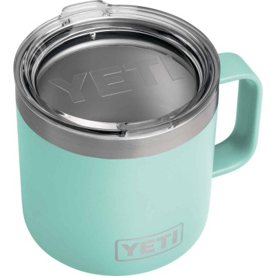 Yeti Rambler 14 Oz. Seafoam Stainless Steel Insulated Mug