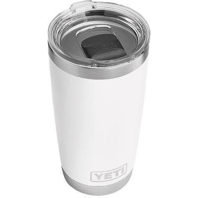 Yeti Rambler 20 Oz. White Stainless Steel Insulated Tumbler with MagSlider Lid