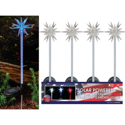 Solaris Acrylic Starburst 33 In. H. Solar Stake Light Lawn Ornament