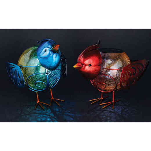 Outdoor Expressions 6 In. W.x 7.5 In. H. x 10 In. D. Bird Solar Light