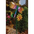 Outdoor Expressions Steel & Glass 20.5 In. H. Solar Stake Light Image 3