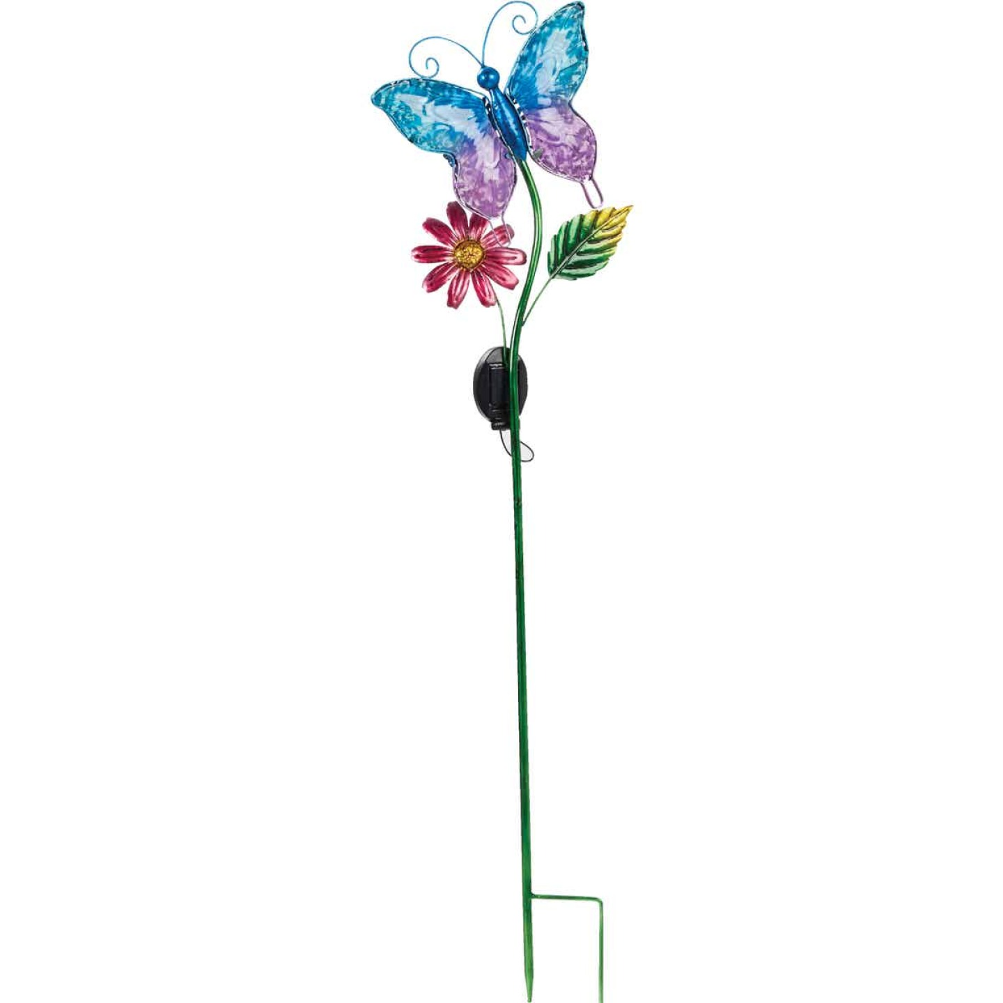 Outdoor Expressions Steel & Glass 20.5 In. H. Solar Stake Light Image 6