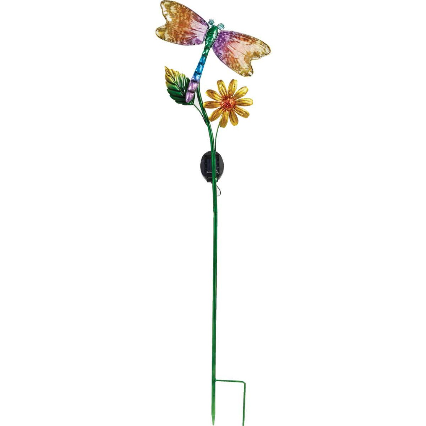 Outdoor Expressions Steel & Glass 20.5 In. H. Solar Stake Light Image 7