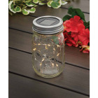 Everlasting Glow Warm White Bulb Metal Solar Mason Jar Lid with String Lights Image 2