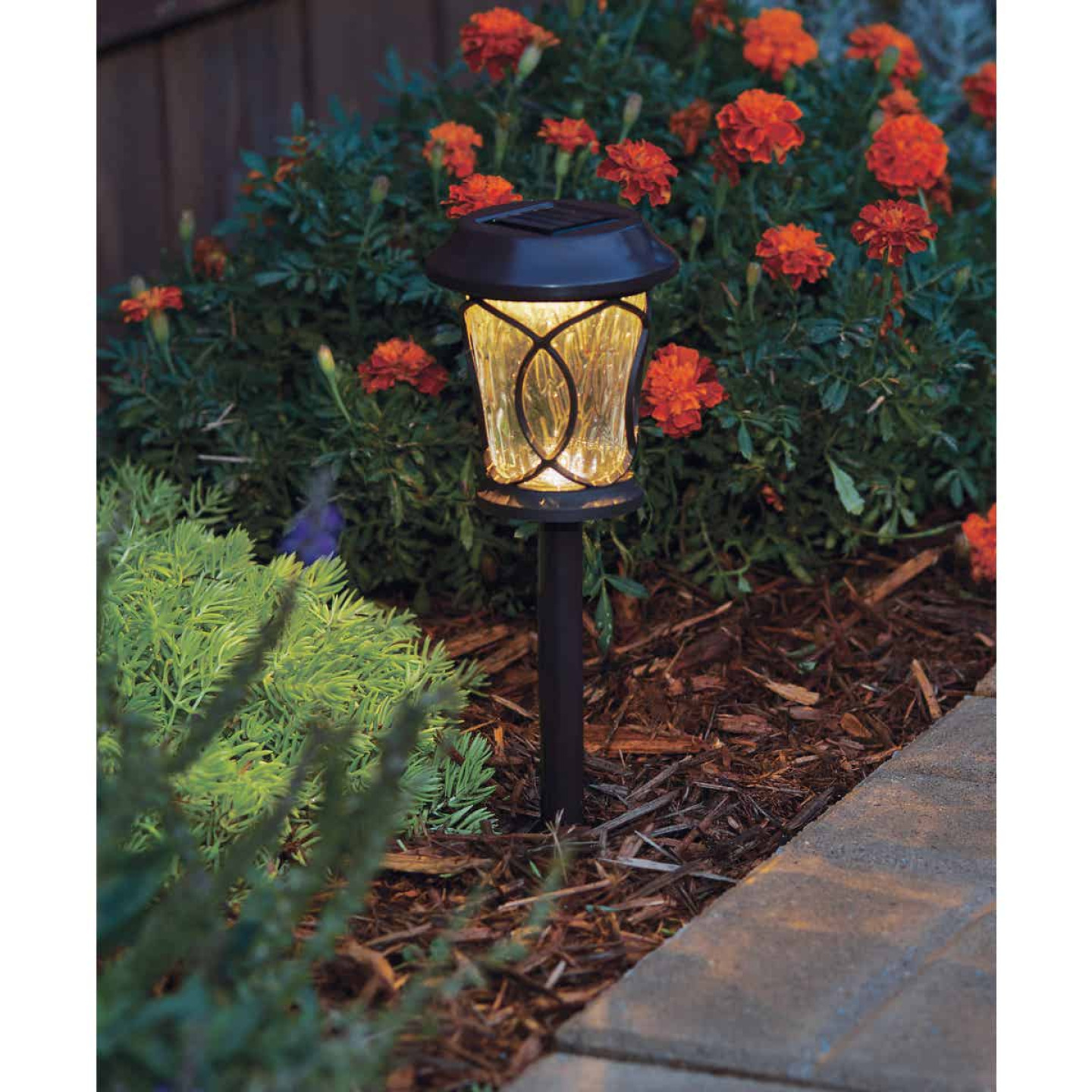 Moonrays Bronze 3 Lumens Plastic Solar Path Light Image 2