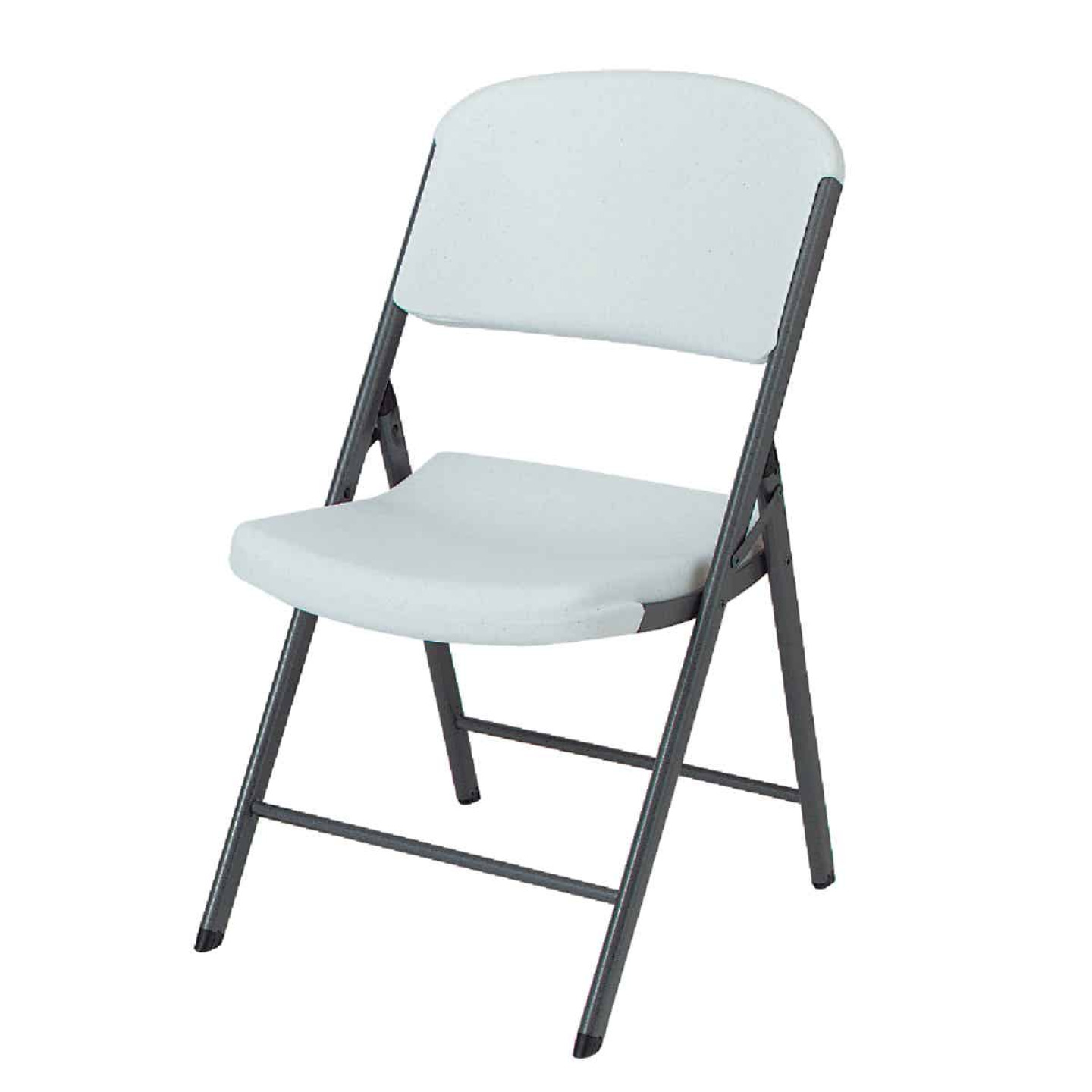Lifetime Contoured Folding Chair, White Image 1
