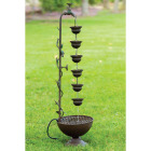 Alpine 11 In. W. x 38 In. H. x 10 In. L. Metal Hanging Cup Fountain Image 2