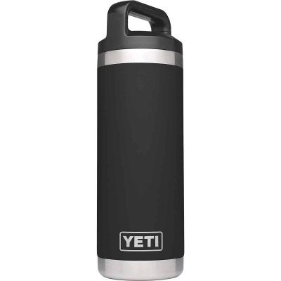 Yeti Rambler 18 Oz. Black Stainless Steel Insulated Vacuum Bottle