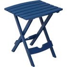 Adams Quik-Fold Patriotic Blue 15 In. x 17.5 In. Rectangle Resin Folding Side Table Image 1