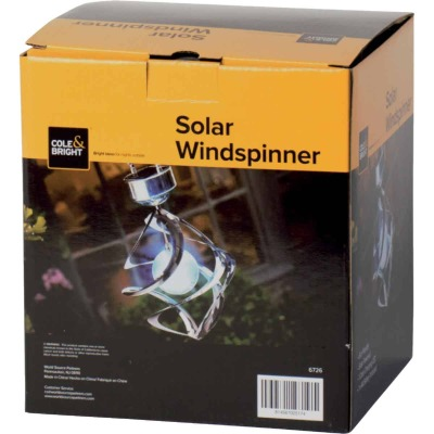 Cole & Bright Aluminum LED Solar Light Windspinner