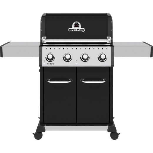 Broil King Baron 420 Pro 4-Burner Black 40,000 BTU LP Gas Grill