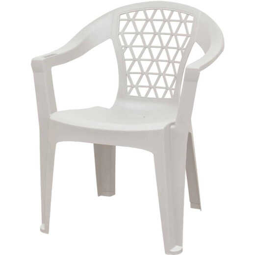 Adams Penza White Poly Stackable Chair