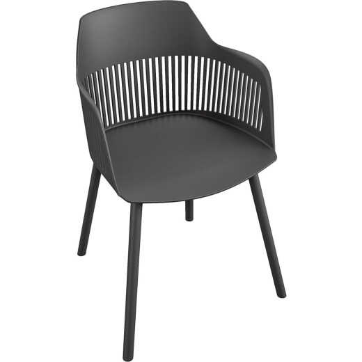 Cosco Camelo Black Resin Dining Chair (Set of 2)