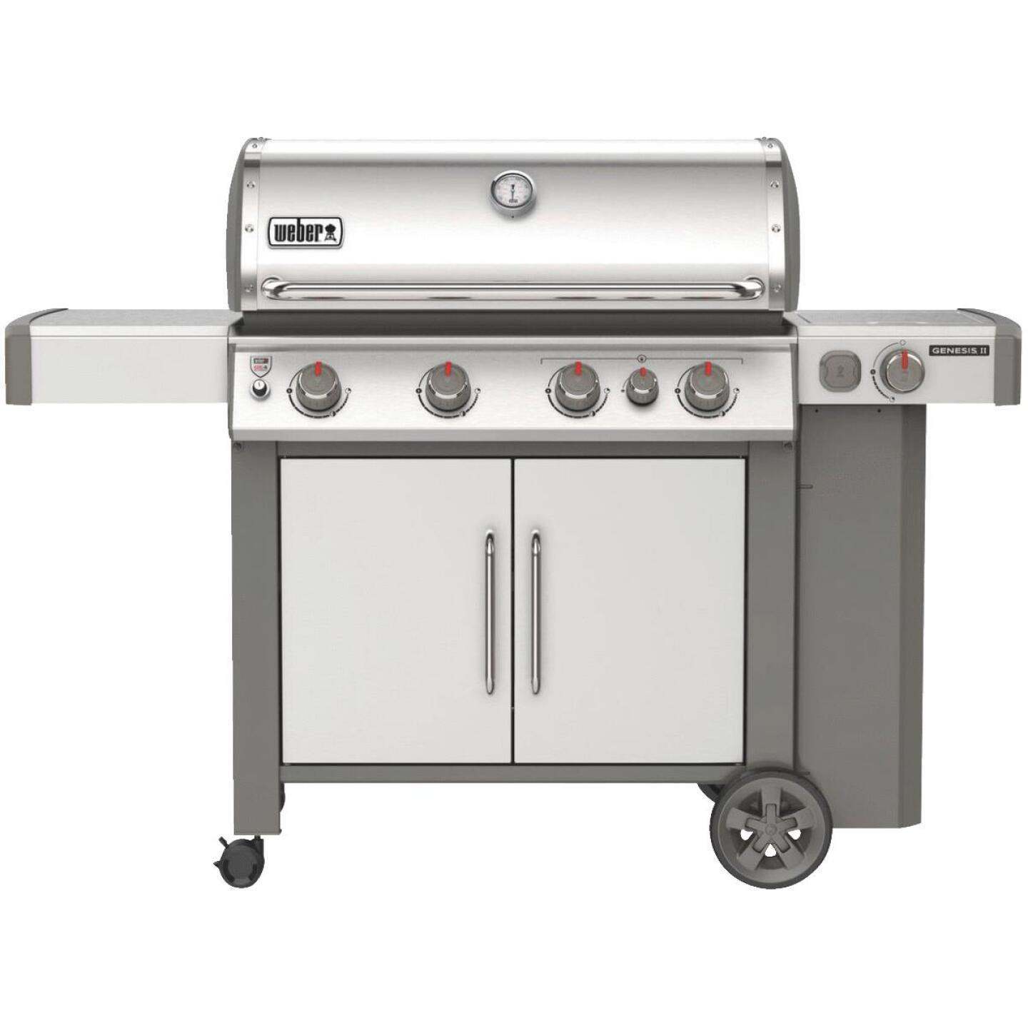 Weber Genesis II S-435 4-Burner Stainless Steel 48,000 BTU LP Gas Grill with 12,000 BTU Side -Burner Image 1