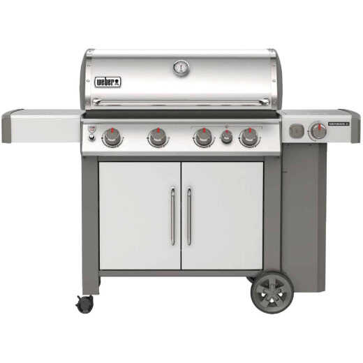 Weber Genesis II S-435 4-Burner Stainless Steel 48,000 BTU LP Gas Grill with 12,000 BTU Side -Burner