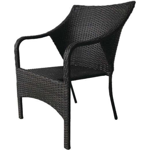Coronado Casuals Manor Brown Wicker Stackable Chair